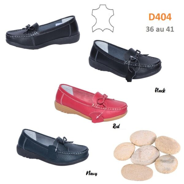 Loafers in leather D404