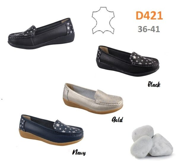 Loafers in leather D421
