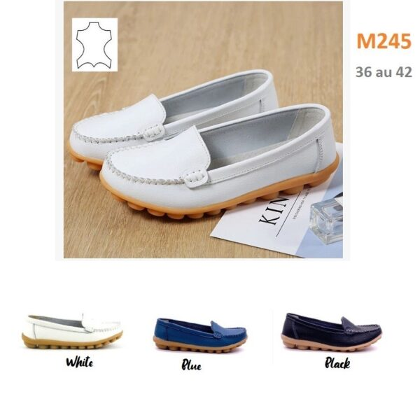 Loafers in leather (Size 36 to 42) M245