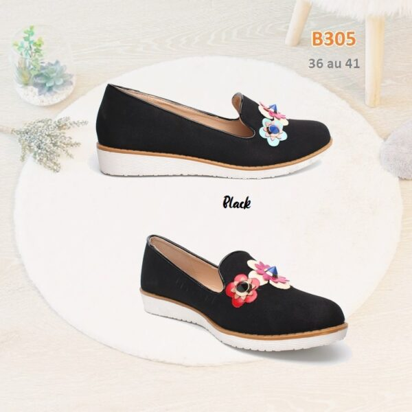 Loafers with flowers B305