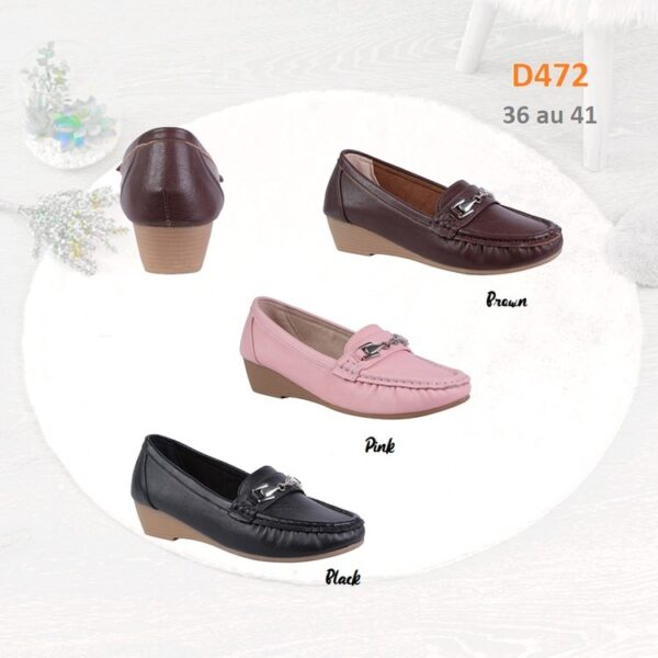 Wedge loafers with buckle detail D472