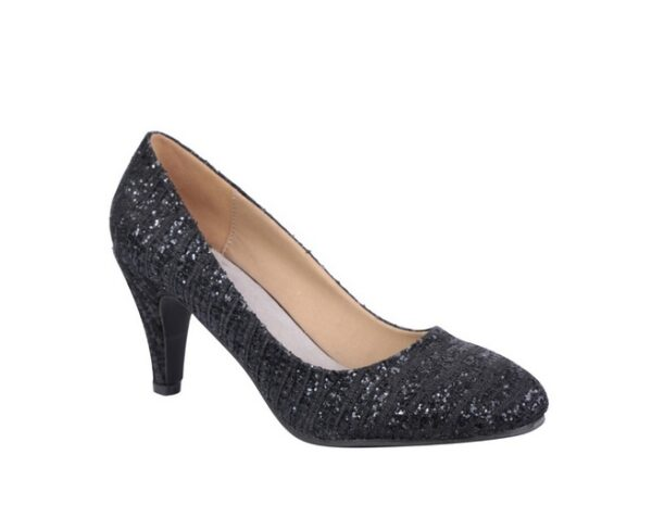 Pumps pointed heeled sequinned H538